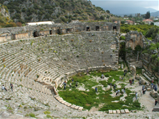 Ancient Myra Theater Building
